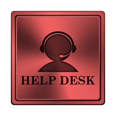Icono de helpdesk — Foto de Stock