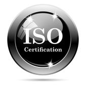 ISO certification icon — 图库照片