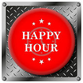 Happy hour-symbol — Stockfoto
