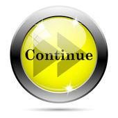 Continue icon — Stockfoto