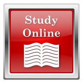 ícone do estudo online — Foto Stock