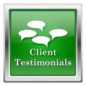 Pictogram voor client-getuigenissen — Stockfoto