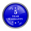 5 year warranty icon — Stock Photo #39038787