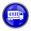 48H delivery truck icon — Foto de Stock