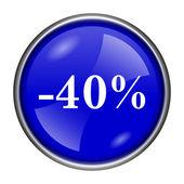 Icono de 40 por ciento de descuento — Foto de Stock