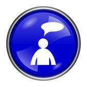 Icône commentaires - homme avec bulle — Photo