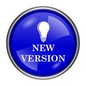 Nieuwe versie pictogram — Stockfoto
