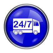 24 7 Lieferung Lkw-Symbol — Stockfoto