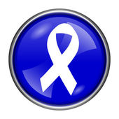 Breast cancer ribbon icon — Stock Photo