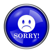 Sorry icon — Foto de Stock