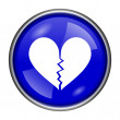 Stock Photo: Broken heart icon