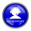 Stock Photo: 24-7 Support icon