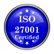 Stock Photo: ISO 27001 icon
