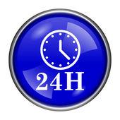 Icono de reloj de 24 horas — Foto de Stock