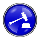 Icône de marteau de juge — Photo