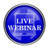 Live webinar icon — Stock Photo