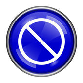 Forbidden icon — Stock Photo
