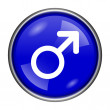 Male sign icon — Foto de stock #39060155