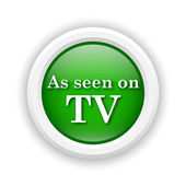 As seen on TV icon — Foto de Stock