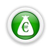Euro sack icon — Stock Photo