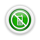 Mobile phone restricted icon — Stock Photo