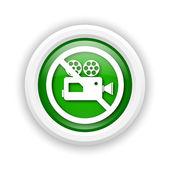禁じられたビデオ カメラ アイコン — ストック写真