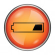 Stock Photo: 1 third charged battery icon