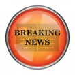Breaking news icon — Stock Photo #39954045