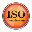 Stock Photo: ISO certification icon