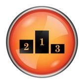 Pódium ikona — Stock fotografie