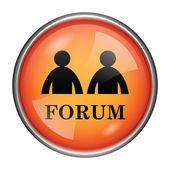 Forum pictogram — Stockfoto