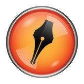 Ikona pera — Stock fotografie