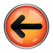 Left arrow icon — Foto Stock