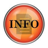 Ikona informace — Stock fotografie