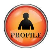 Ikona profil — Zdjęcie stockowe