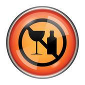No alcohol icon — Stock Photo