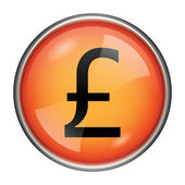 Pound icon — Stock Photo