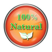100 percent natural icon — Stock Photo