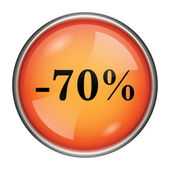 70 percent discount icon — Stock Photo