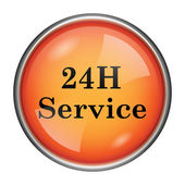 24H Service icon — Stock Photo