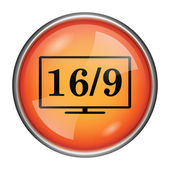 16 9 TV icon — Stock Photo