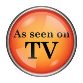 As seen on TV icon — Stockfoto