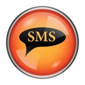SMS bubble icon — Stock Photo
