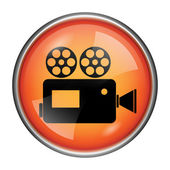 Video camera icon — Stock Photo