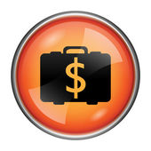 Dollar bag icon — Foto Stock