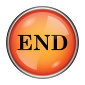 End icon — Stock fotografie