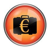 Euro çanta simgesi — Stok fotoğraf