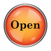 öppna ikonen — Stockfoto