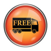 Free delivery truck icon — Foto Stock