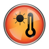 Sun and thermometer icon — Stock Photo